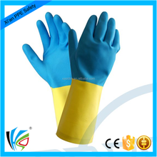 High grade industrial working Chemical resistant hand protection neoprene and rubber safety gloves