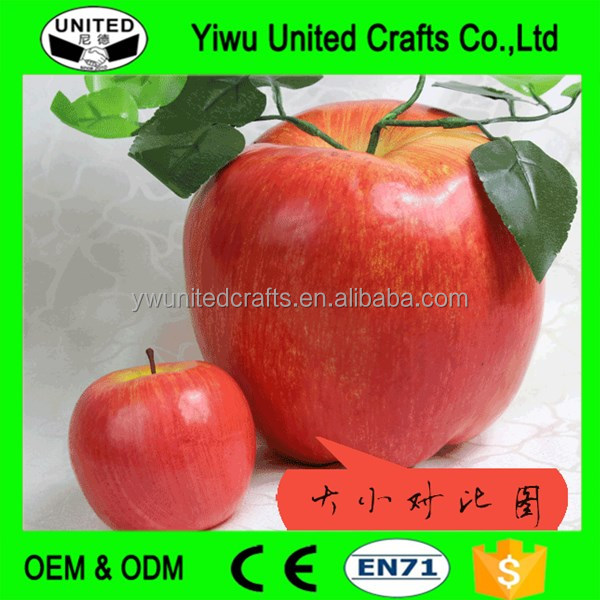 Artificial Apple Red Large Plastic Decorative Fruit Apples