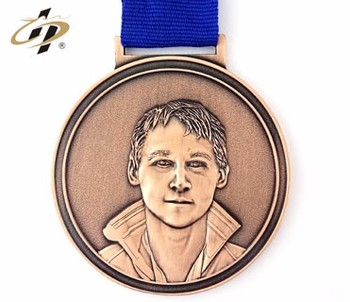 custom make metal high quality zinc alloy bronze medal in metal crafts