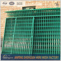 pvc coated 1x1 wire mesh fencing with ISO 9001 by CQC