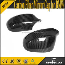 E90 E91 Full Replacement Carbon Fiber Mirror Covers Caps for BMW 3 Series 335i 328i 09-11