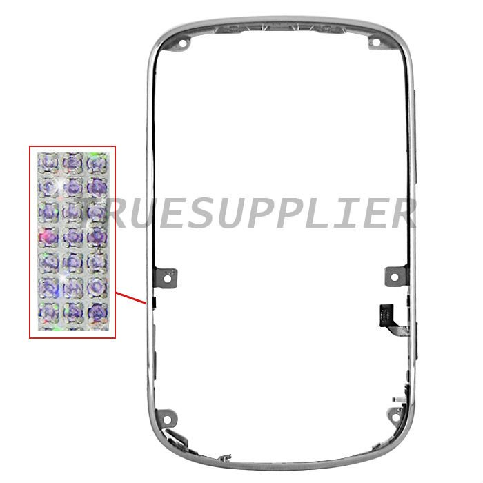 For Blackberry Bold 9900 9930 Purple Diamond Front Bezel