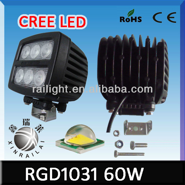 waterproof ip68 super bright 60w cree led work light for truck