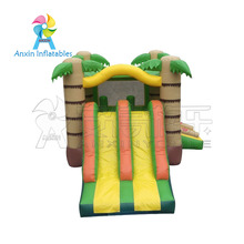 2017 Hot Sale Commercial Inflatable Jumping Bouncer, Tropical Bouncy Castle With Slide