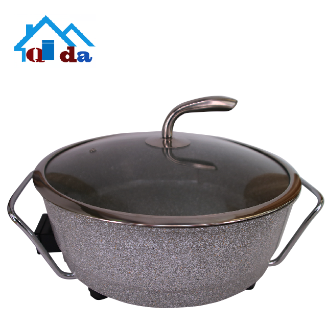 High quality quality non-stick cooking wholesale cookware aluminum pot granite cookware set electric skillet
