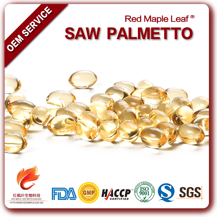 For Hair Health OEM Supplement Saw Palmetto Soft Gels Capsules