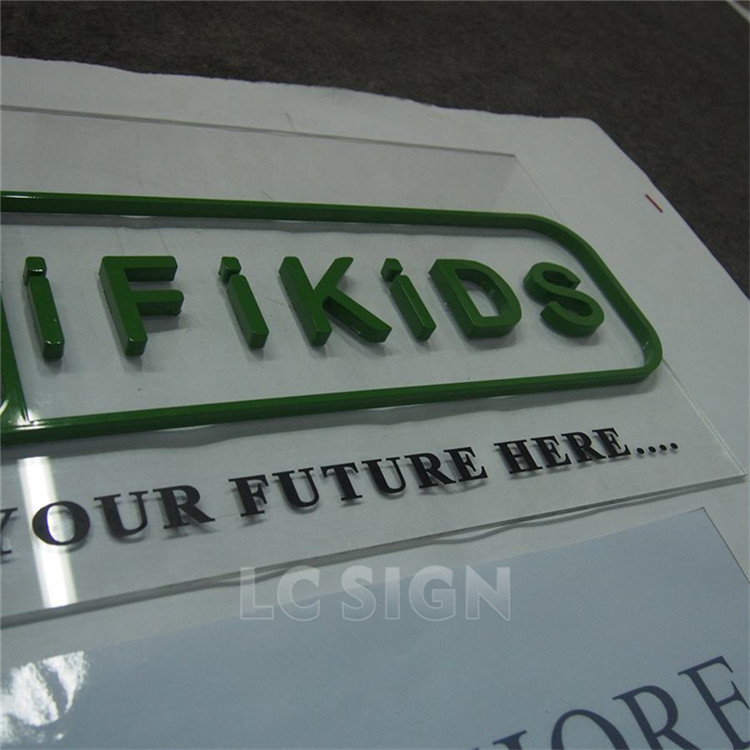 China manufacturer wall mouted outdoor led channel stainless steel letters signs made in China