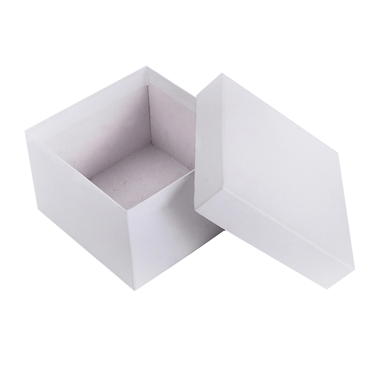 High quality slap-up rigid jewelry white packaging box with lid and base style