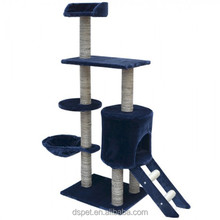 Dspet Wholesale Cat Tree Cat Scratching Post Condo Tower House Hamock Pet Products Sisal Posts with Stair