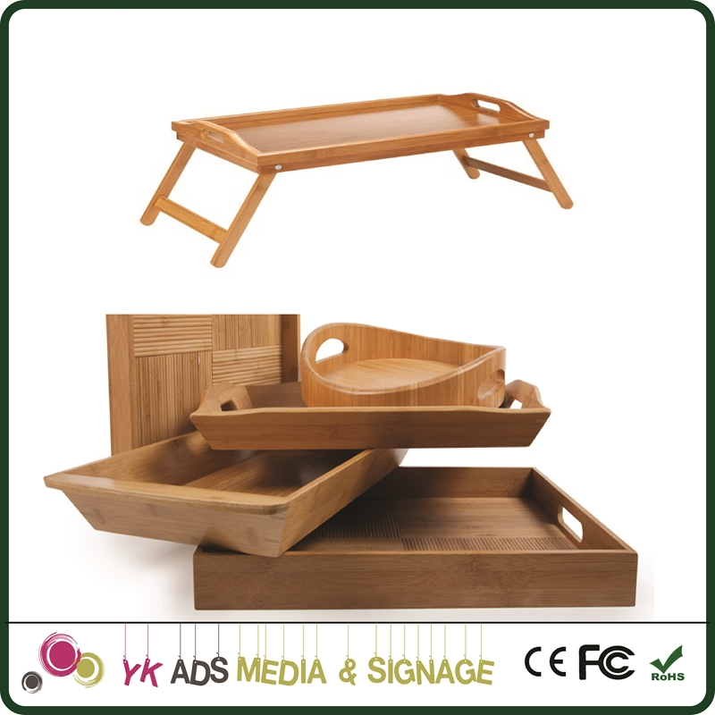 Car seat tray Wooden Beer Tray Natural Wood Food Serving Tray