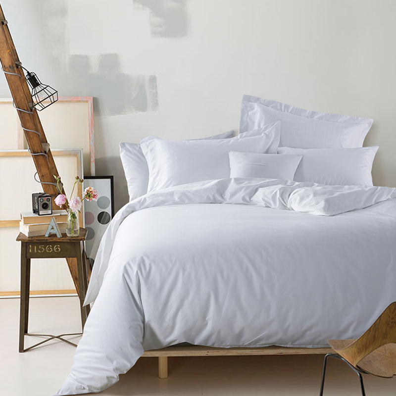cheap Polyester Cotton white hotel bedding sets/bedding linen wholesale