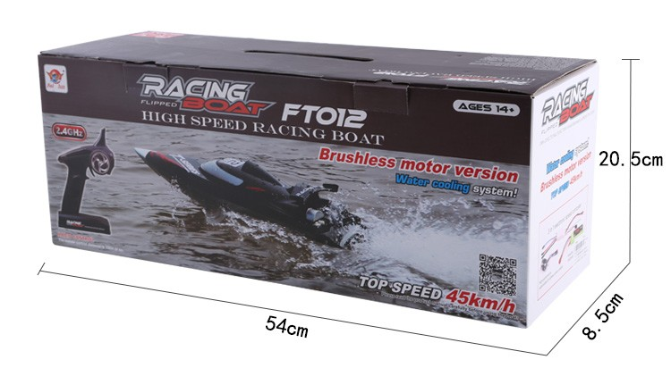 2016 hot selling 2.4G 4CH high speed rc brushless boat model