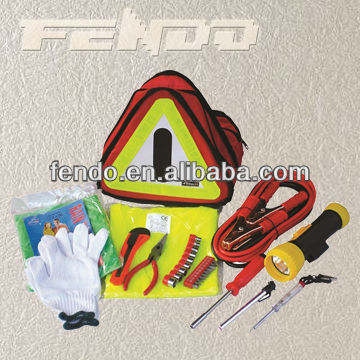 hot selling car emergency tool kit with triangle bag
