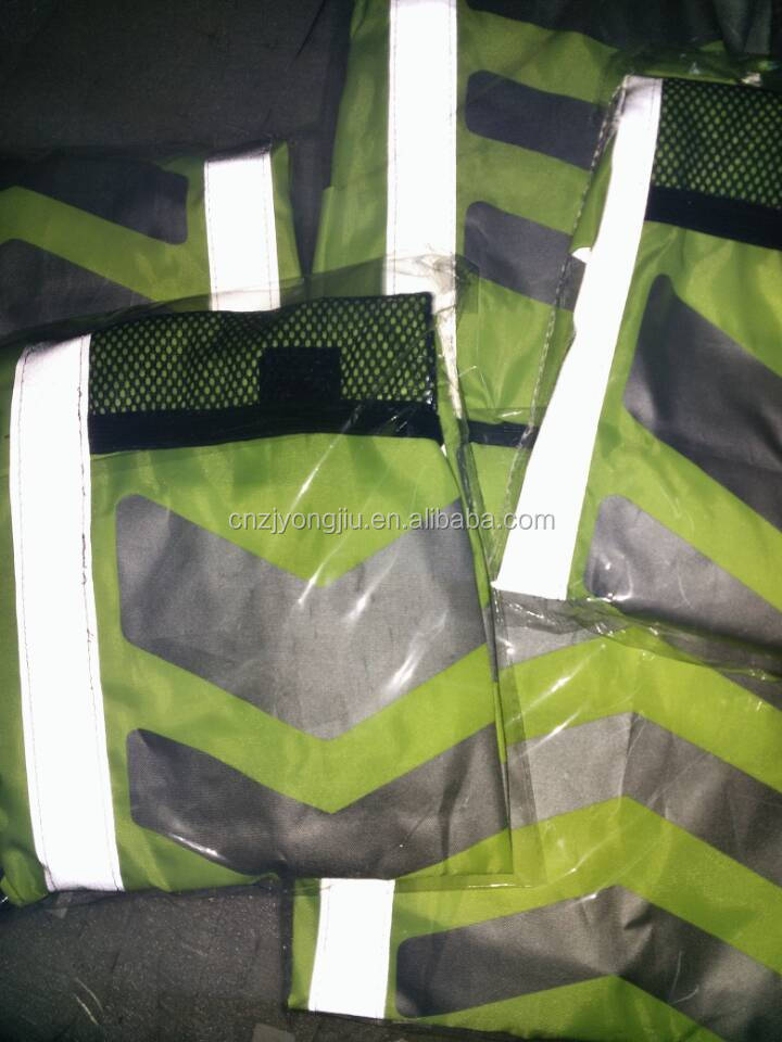 waterproof backpack cover, fluorescent effect backpack rain cover, hot selling backpack rain cover