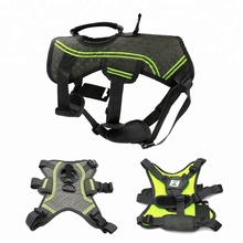 eva mesh soft fluorescent easy walk large pet supplies manufacturers wholesale pet harness nylon dog harness backpack