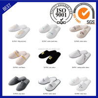 Cheap velvet wholesale home use guest hotel slipper