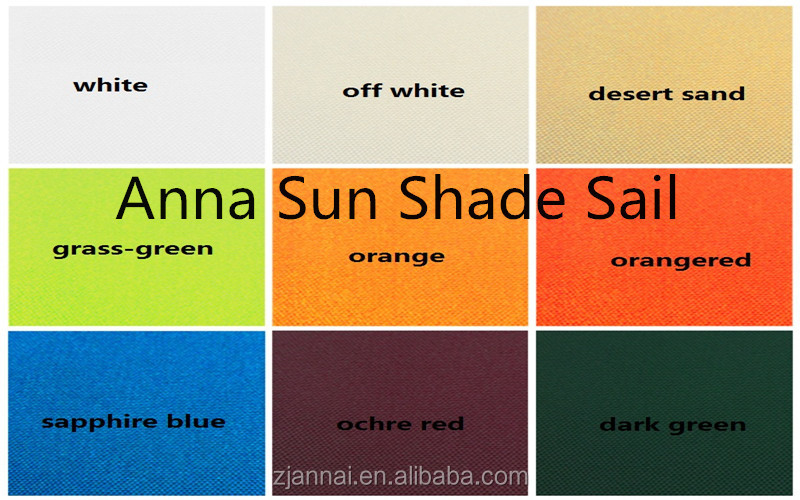 160g/m2 5x5 M/PCS Waterproof Square Sun Shade Sail with PU coated