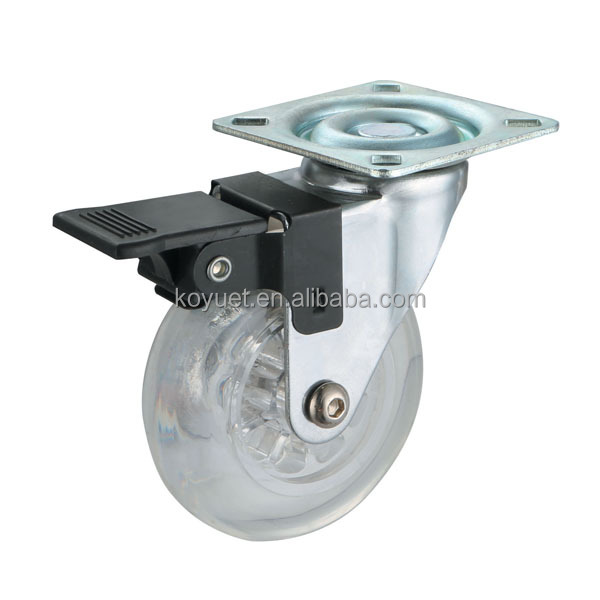Industrial Used 2'' RUBBER Iron Swivel Caster Wheel