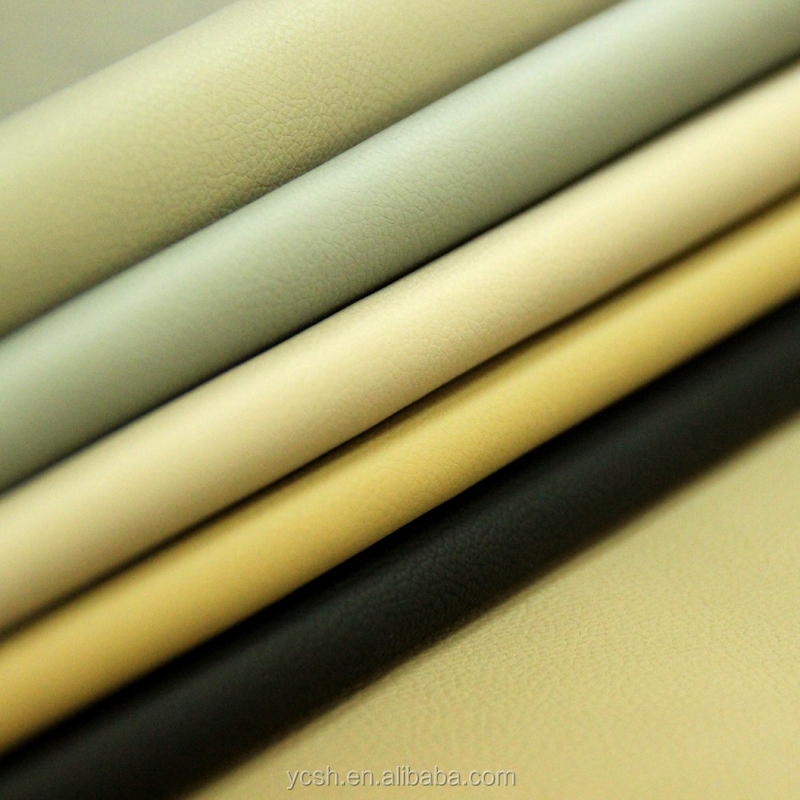 wholesale faux leather fabric lychee pattern pu material for car seat cover