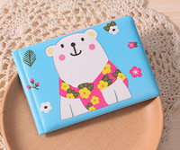 Wholesale plastic gift lovely flower print card holder with high quality