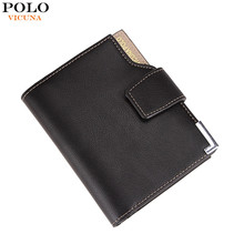 VICUNA POLO Brand 2017 Hot Product Men's Wallet PU Leather Cheap Purse Large Capacity Simple Short Mens Metal Wallets Wholesale