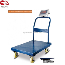 Big LED LCD display zemic load cell trolley shape digital electronic iron mill scale