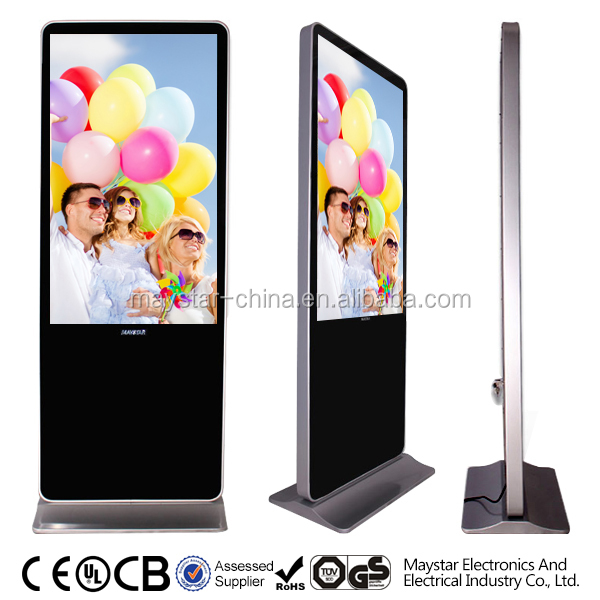 55 inch hot sale 3g wifi vertical lcd panel stand advertising display