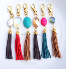 Hand-make Jewelry Bunt Tassel Keychain with Beautiful Gem