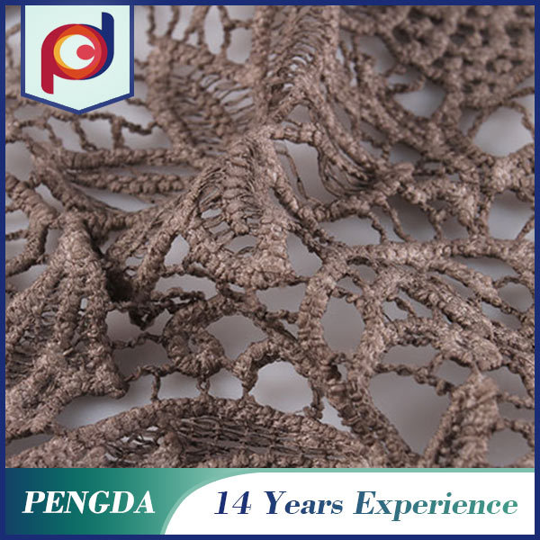 China supplier Best selling Beautiful Polyester embroidery lace fabric with holes