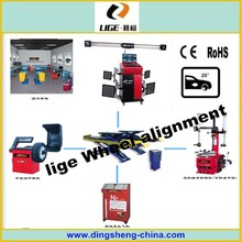 car repair maintain shop equipments wheel alignment, tire changer, balancer, car lift automotive equipment