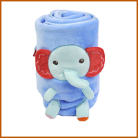 Cartoon Printing Double Layer Elephant Baby Blanket
