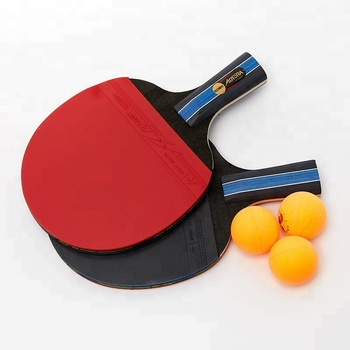 High quality  short custom table tennis rackets good wood ping pong paddle set