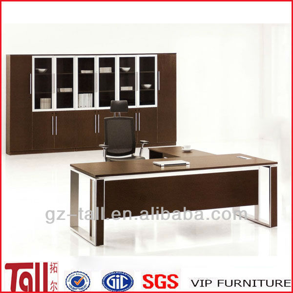 2014 new design modern executive desk with steel leg