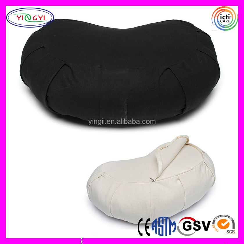 E206 Half Moon Therapeutic Meditation Cushion Yoga Pillow Cotton Removable Cover Meditation Pillow