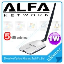 Alfa AWUS036H 1000mW USB Wifi Adapter Long Range Network Wireless Adapter 5dBi Antenna