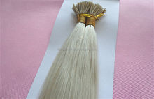 factory price Italy glue extensions I tip 100% virgin Brazilian human hair pre-bonded keratin tip fusion hair extension