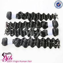 HEZE direct factory unprocessed human hair, remy brazilian human hair various type wavy hair extensions