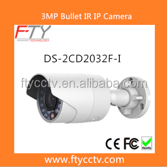 DS-2CD2032F-I 3.0MP IR Ourdoor Bullet Hikvision IP Camera With Russian, French, German For Home Security