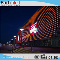 10 mm Transparent LED Video Advertising Display Screen, Light Weight Transparent LED Curtain