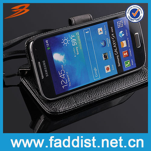 Flip Leather Pouch for Samsung Galaxy s4 mini Wallet Case