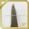 Mixed color tassels hanging decorative cord tieback FT-037
