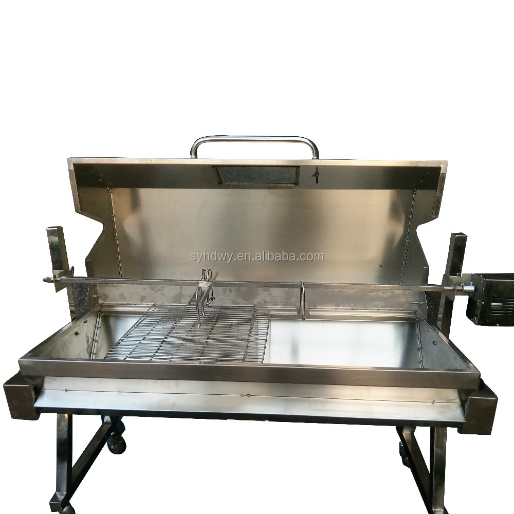 Factory wholesale Stainless steel spit roast BBQ grill