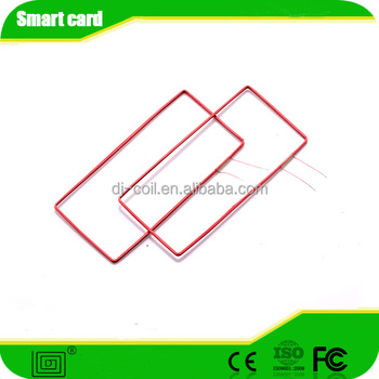 induction rfid antenna coil card holder