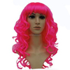 MPW-0461 halloween carnival wave curly long hot pink wig
