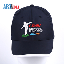 Premium quality soft textile polyester navy embroidered sports cap