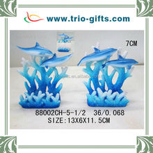 polyresin dolphin card holder