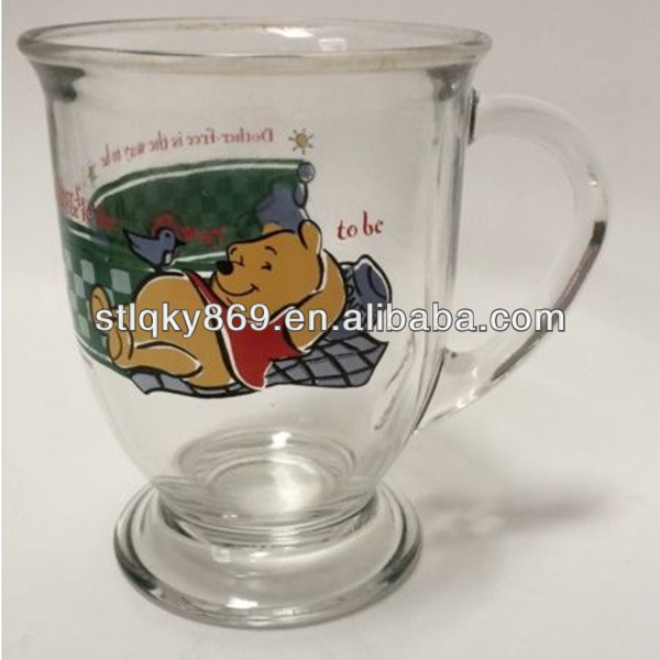Anchor Hocking Beer Cartoon image Mug Clear Glass Coffee Cocoa Glass Mug Cup