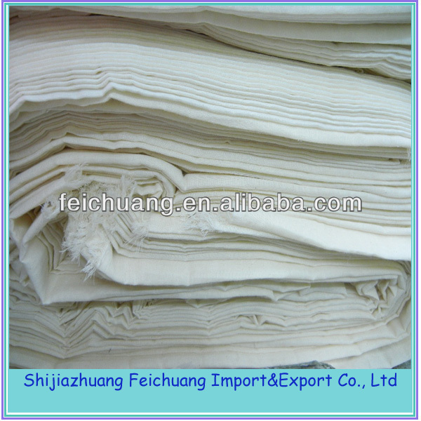 raw material 100% cotton grey fabric for bedsheet