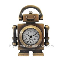 Robots design custom wholesale japan movt pocket watch 2014,hot China wholesale pocket watch,antique brass pocket watch for fun