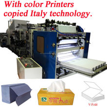 Italy Design Embossing Laminating Printing High Speed Automatic Interfold Facial Tissue Paper Machine 6 Lanes